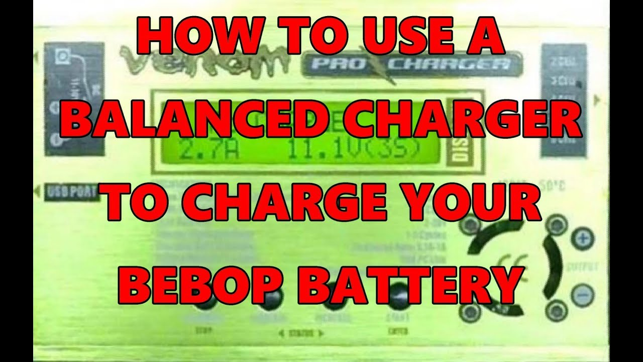how to use a balanced charger to charge your bebop 2 battery