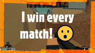 I win every match... (almost) Roblox Arsenal