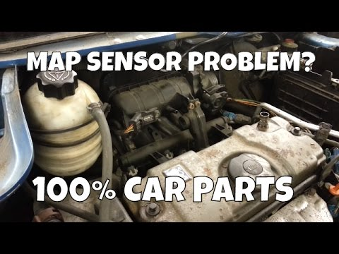 How to Change Replace Map Sensor Peugeot 206 0261230043