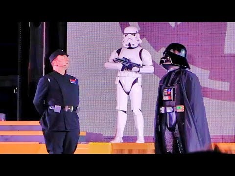Imperial March with Darth Vader at Star Wars: Galactic Nights, Walt Disney World