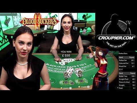 Online Blackjack vs High Roller Slots! £25 to £100 Spins! BIG BETS Blood Suckers 2 at Mr Green!