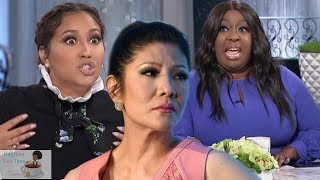 Adrienne and Loni have a HUGE DISAGREEMENT about Julie Chen leaving THE TALK and supporting her MAN!