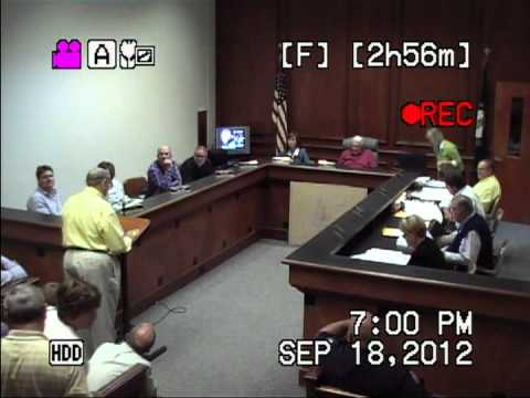 2012-09-18 Mt. Sterling, KY City Council Meeting - (Part 4 of 5)