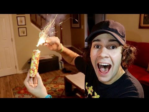 Thumbnail: LIGHTING A FIREWORK INSIDE THEIR HOME!!