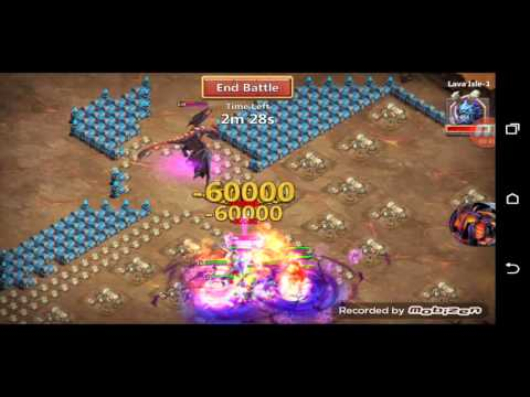 Castle Clash. Lava Isle 1, Easy.