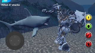 X Robot Car : Shark Water (By Omsk Games) Android Gameplay HD
