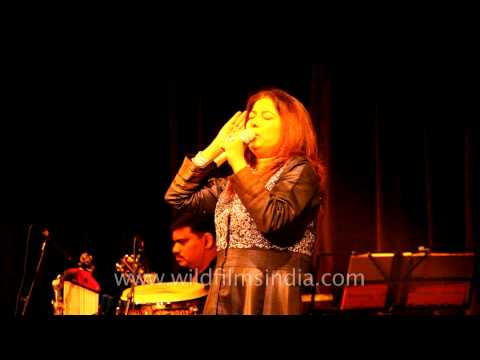 Rekha Bhardwaj sings Zikr a sufi song at the Writer's festival, Mussoorie
