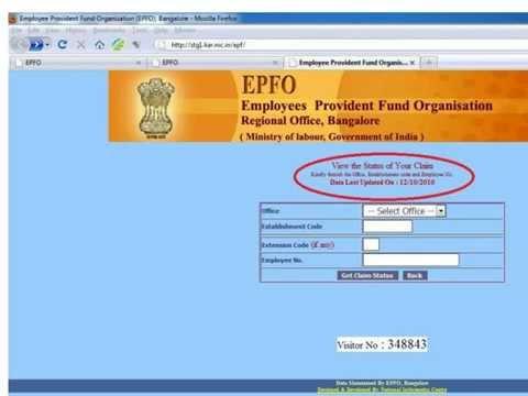 epf balance  epf claim status enquiry epfindia.com PF Status Online employee provident fund