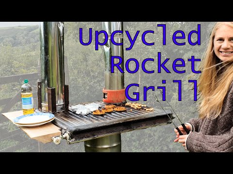 DIY Rocket Stove Grill Griddle from Old Radiator
