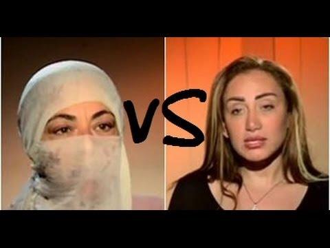 ريهام سعيد تطرد ملحدة من البرنامج (علي الهواء) .
