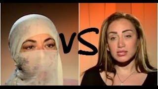 Repeat youtube video ريهام سعيد تطرد ملحدة من البرنامج (علي الهواء) .