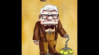 "How to draw ""Carl Fredricksen"" from ""Up"""