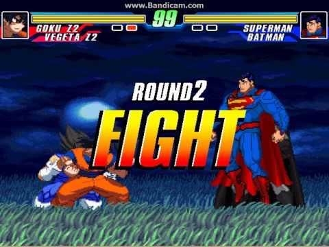 MUGEN Battle #0015 - Team Goku vs Team Superman