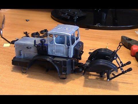 видео: Сборка модели трактора Кировец К 701 АВД