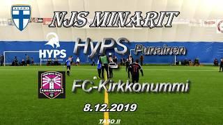 NJS Minarit P11 HyPS Punainen vs FC Kirkkonummi 8.12.2019