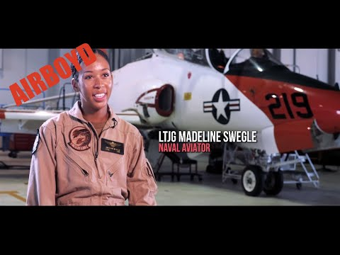 LTJG Maddy Swegle • U.S. Navy's First Black Female Tactical Jet Pilot
