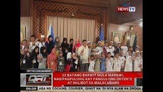 QRT: 35 batang Bakwit mula Marawi, nakipagpulong kay Pangulong Duterte at inilibot sa Malacañang