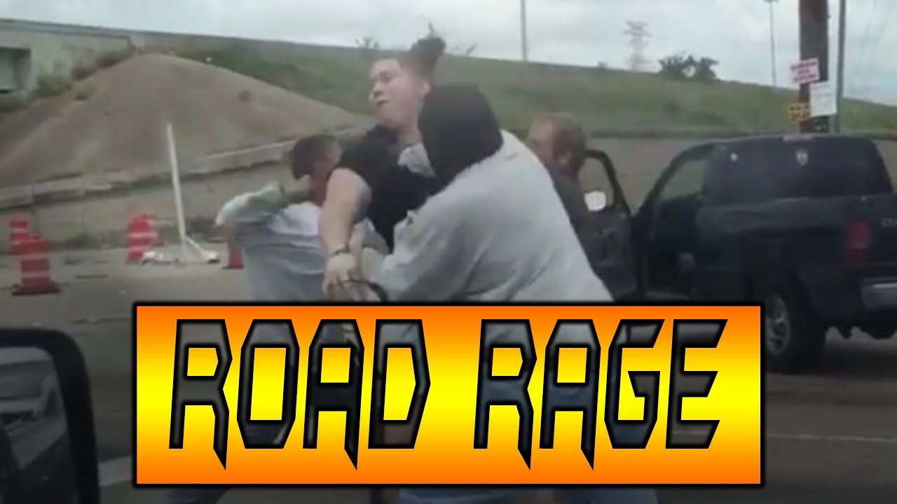 Road rage brawl ends with one man being stripped naked