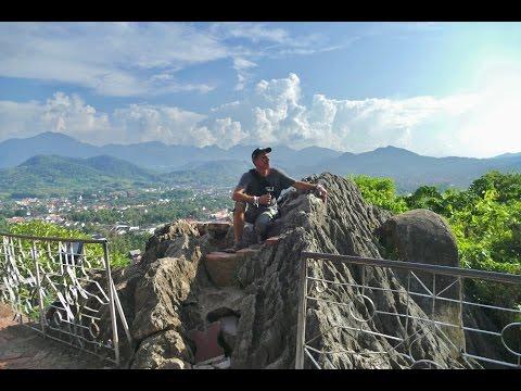 Interesting HIke up Phou Si Hill in Luang Prabang, Laos 4K
