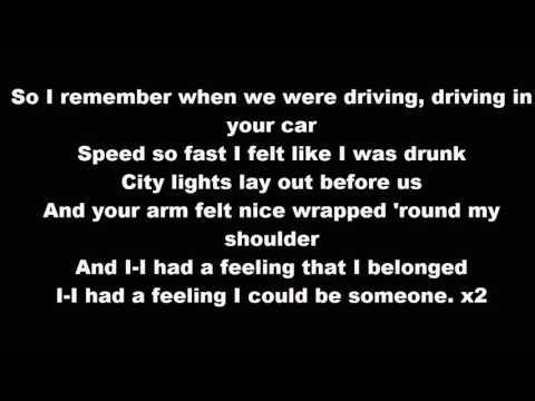 Tracey Chapman - Fast Car (Jonas Blue ft Dakota remix) Lyrics
