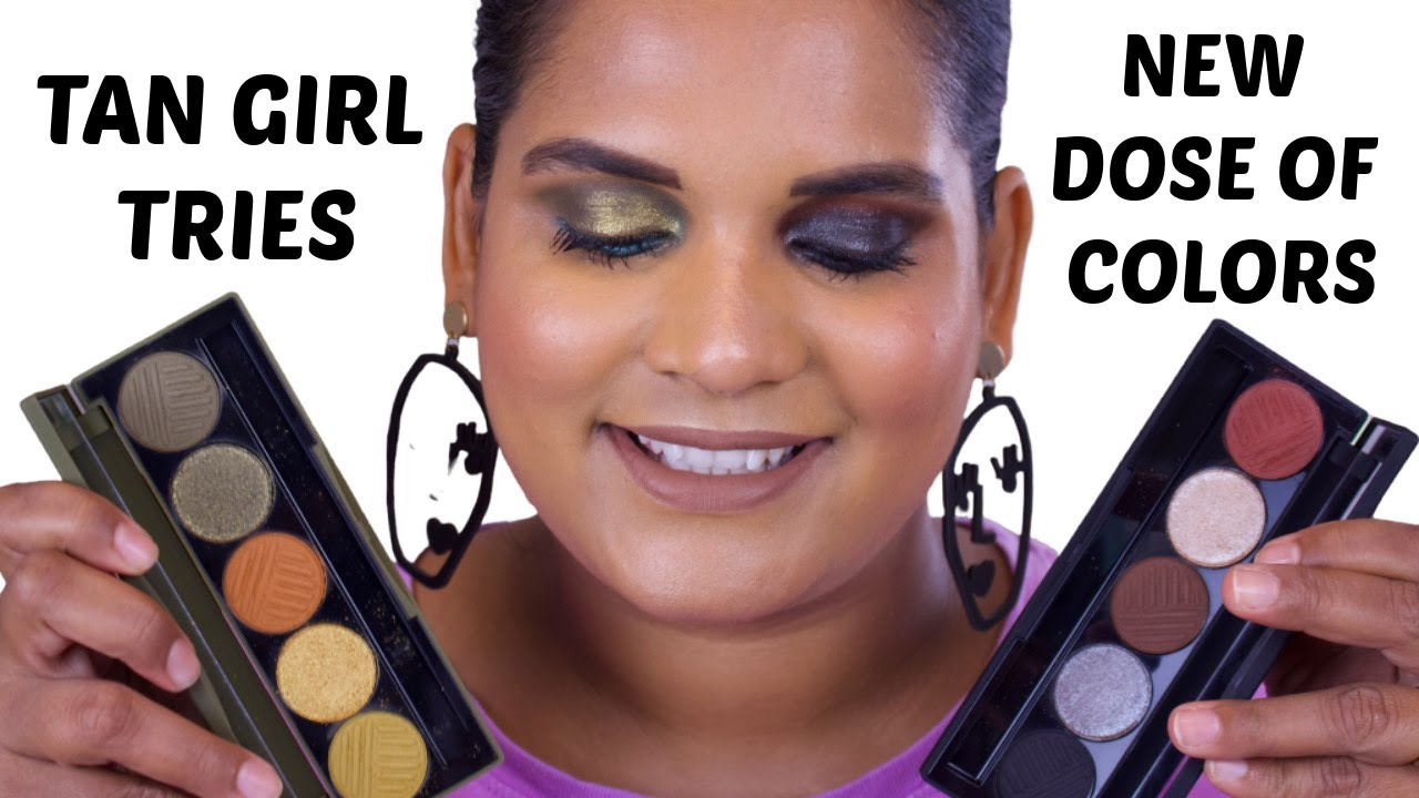 Tan Girl First Impression of @Dose of Colors Cutting Edge and Smokey Soirée Eyeshadow Palettes