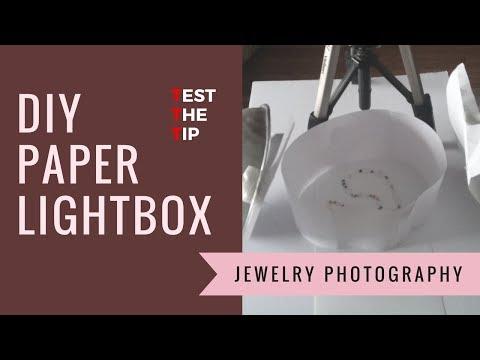 DIY Paper Light Box - Test the Tip