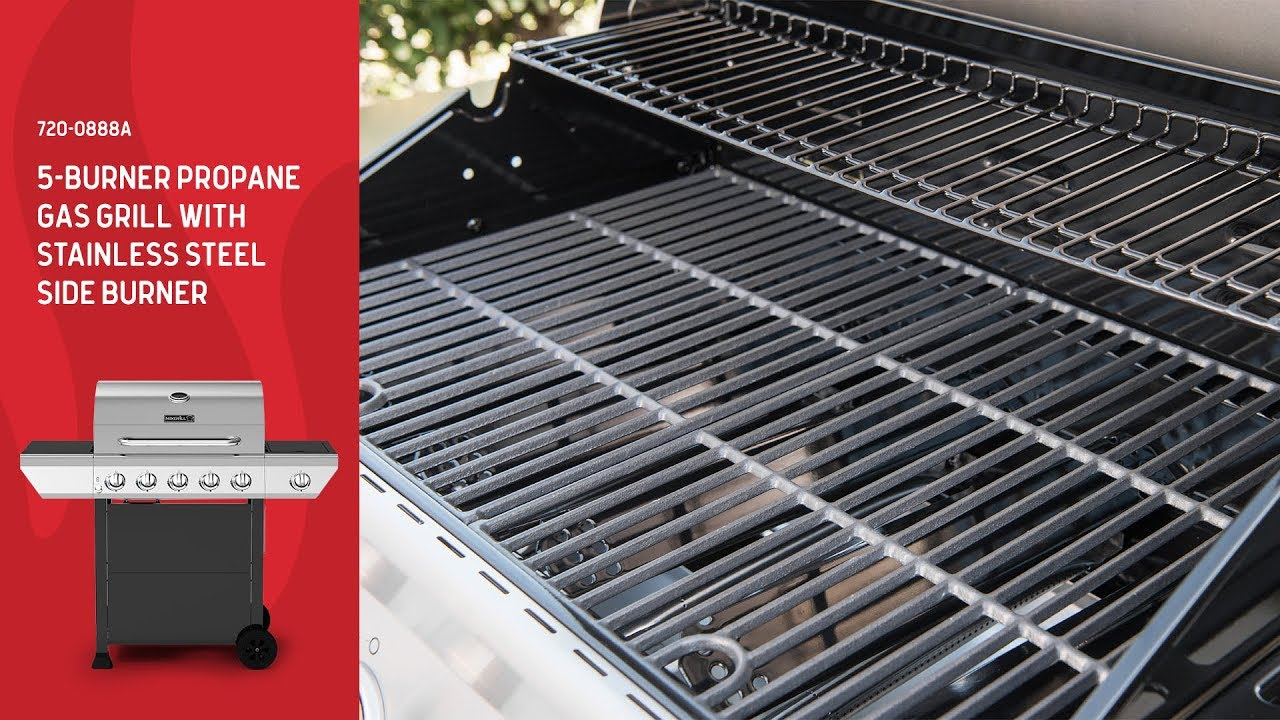 Nexgrill 5 Burner Gas Grill W Stainless Steel Side Burner 720 0888a