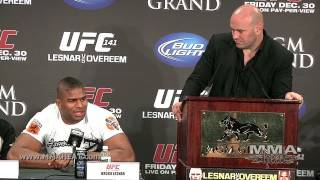 UFC 141: Lesnar vs Overeem Post-Fight Press Conference (Complete + Unedited)