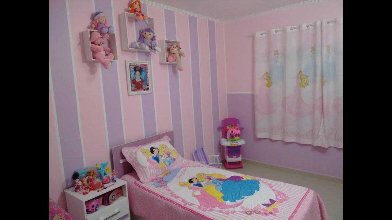 Decoracao De Quarto Infantil Das Princesas Tucuws Com ~ Quarto Planejado Infantil Feminino