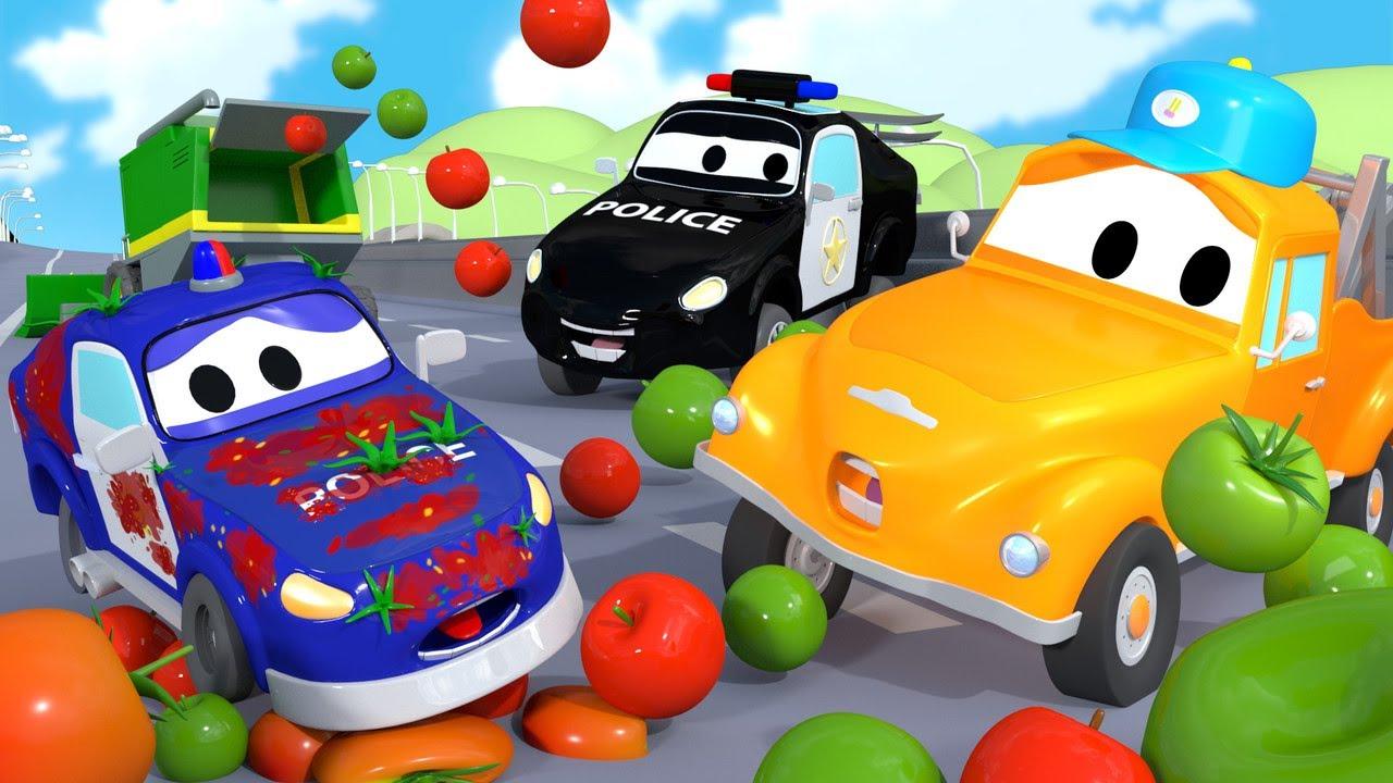 Tiệm rửa xe cho trẻ em - XE CẢNH SÁT Matt nhí - Thành phố xe