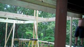 Building A Large Deck- Framing Stage