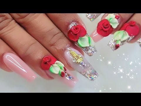 Nail Art Designs 3d Flowers Step By Step Broken Nails Flores 3d