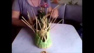 Плетение из газетных трубочек башмака. (3 часть)