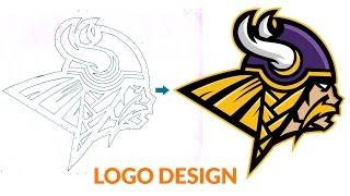 Vikings Logo design by Adobe Illustrator CS6