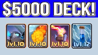 clash royale $ 5000 deck clash royale fully maxed out cards deck ...