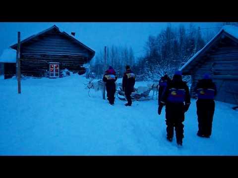 Levi Lapland Dec 2009 - ATTACKING REINDEERS!! - After Snowmobile Break