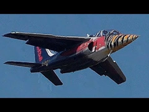 Red Bull ALPHA JET! Impressive airshow display at AFW2013! Takeoff, aerobatics, low passes, landing