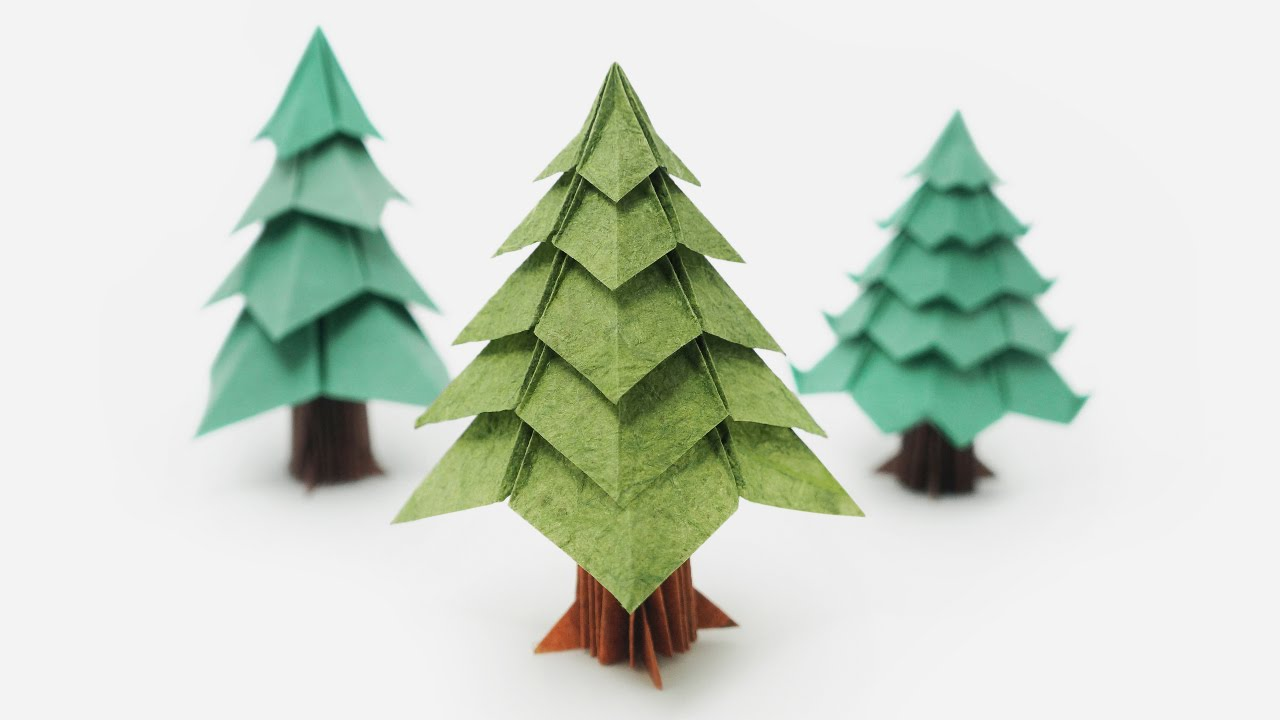 Origami christmas tree jo nakashima youtube solutioingenieria Choice Image