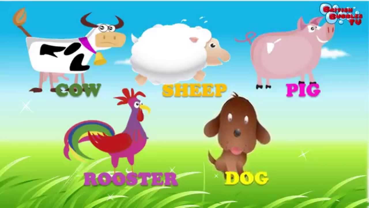 Los Animales De Granja En Ingles Con Sonidos Para Niños Parte1 Youtube