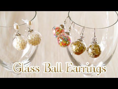 DIY How to Make Kawaii Glass Ball Earrings (Extras) ガラスドームピアスの作り方 - OCHIKERON - CREATE EAT HAPPY