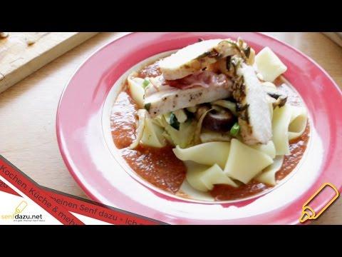 nudeln-mit-pilz-sauce-und-rosmarin-hähnchen---rezept-mal-anders