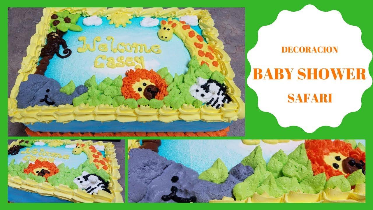 Safari Theme Baby Shower Cakes