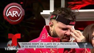Farruko rompe en llanto presentando su álbum Gangalee   Al Rojo Vivo   Telemundo