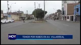 Trujillo: Temor por robos en avenida Villarreal