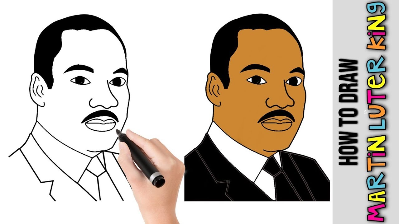 How To Draw Martin Luther King Jr MLK Jr★ Cute Easy ...