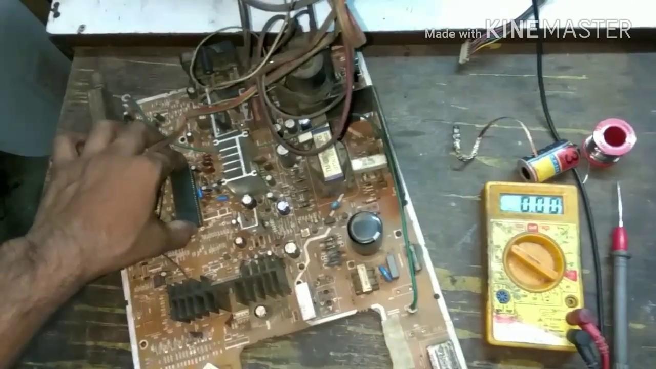 How to repair dead HYUNDAI CRT tv (croma ic fault)
