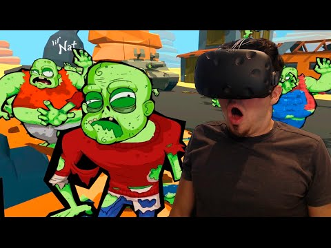 SIMULADOR Apocalipsis ZOMBIE! | Zombie Training simulator (HTC Vive) REALIDAD VIRTUAL