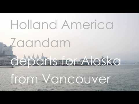 """Holland America """"Zaandam"""" departs for Alaska from Vancouver Canada Place (02)"""