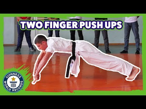 Two finger push ups - Guinness World Records