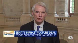 Фото Sen. Rob Portman On Infrastructure Bill And Senator Lindsey Grahams Covid Diagnosis
